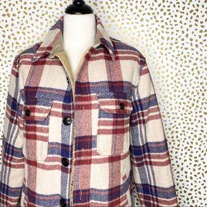 L.L. Bean wool plaid coat